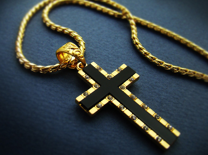 157 mens cross pendant necklace 18k gold plated mens black onyx 157 mens cross pendant necklace 18k gold plated mens black onyx cross chain necklace cubic zirconia 24b aloadofball Image collections
